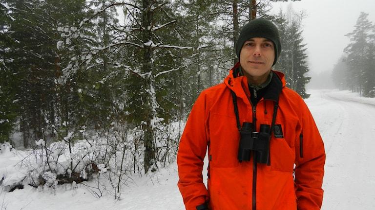 Fredrik Wilde von der Wildverwaltung in Värmland . Foto Roy Malmborg Sveriges Radio