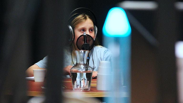 Hanna Melchert, Hammarlundens skola 5A. Foto: Lars-Gunnar Olsson/Sveriges Radio.