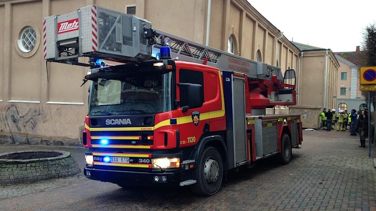 Räddningstjänstfordon. Foto: Robert Ojala/Sveriges Radio.