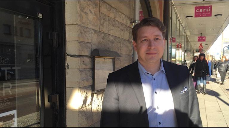 Fastighetsägarnas tillförordnade VD Rudolf Antoni. Foto: Anton Eriksson/Sveriges Radio P4 Värmland