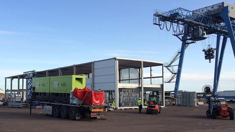 Serviceplatsen vid hamnen i Karlstad. Foto: Per Larsson/Sveriges Radio.