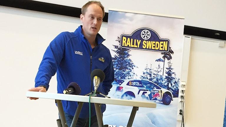 Glenn Olsson, Svenska Rallyts vd. Foto: Sara Johansson/Sveriges Radio.