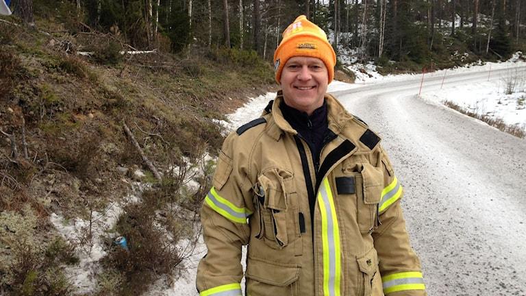 Jan Thor, brandman. Foto: Robert Ojala/Sveriges Radio