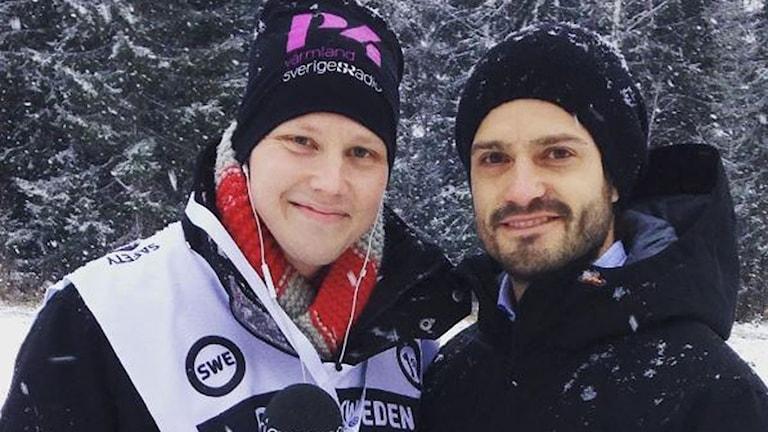 Robert Ojala och Prins Carl Philip. Foto: Sveriges Radio