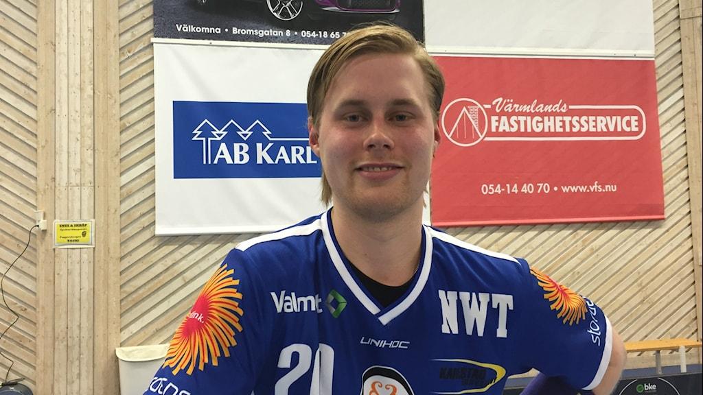 Adam Colling hade ingen rolig comeback i förlustmatchen mot Linköping med 1-3. Foto: Daniel Viklund/Sveriges Radio.