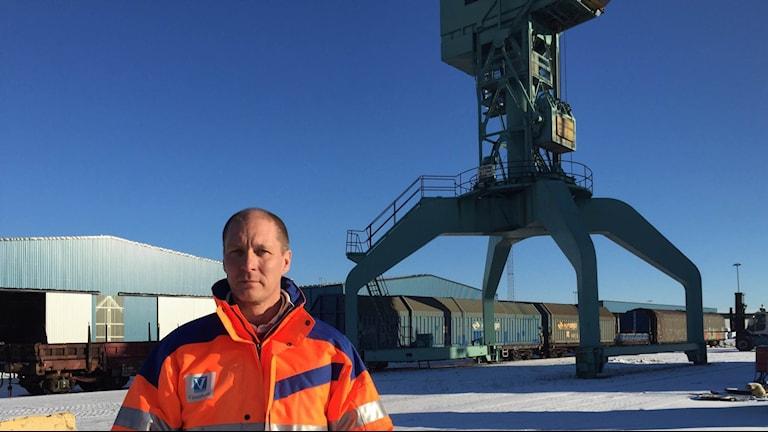 Göran Lidström, VD för Vänerhamn. Foto: Anton Eriksson/Sveriges Radio P4 Värmland
