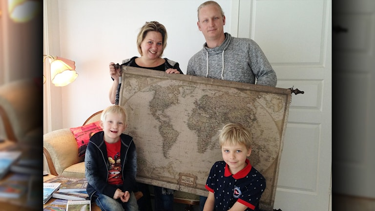 Familjen Thunberg från Degerfors. Foto: Robert Ojala/Sveriges Radio.