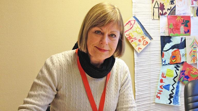 Ineke Brummer van Hardeveldt, föreningen Aktiva medmänniskor i Munkfors. Foto: Robert Ojala/Sveriges Radio.