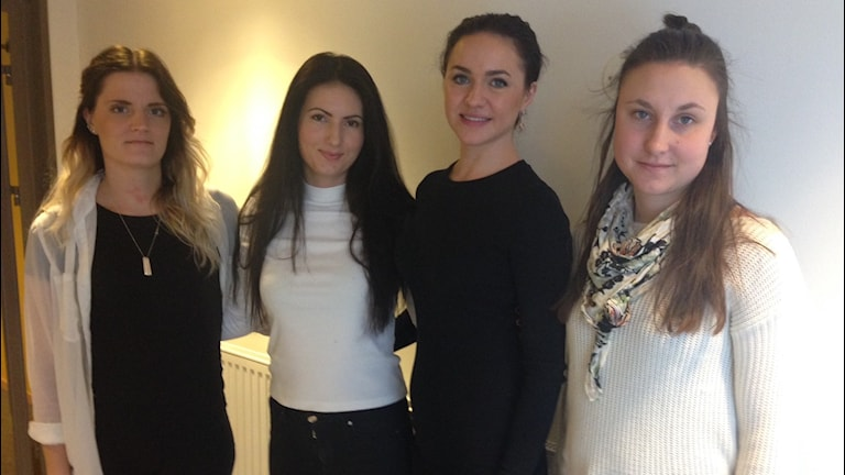 Angelica Olsson, Jehona Tahiri, Linnéa Bäckström och Kajsa Karlsson, Karlstads universitet.