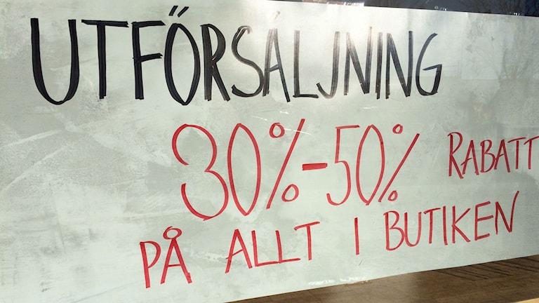 Många butiker stänger i Säffle.