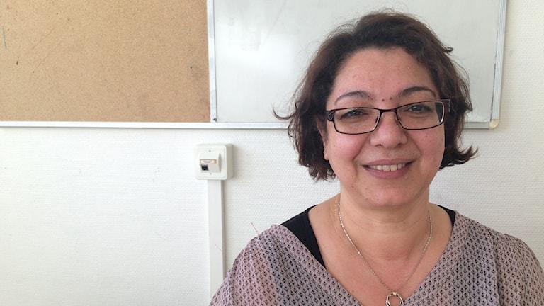 Houria Karlsson, lärare i förberedelseklassen på Orrholmsskolan.