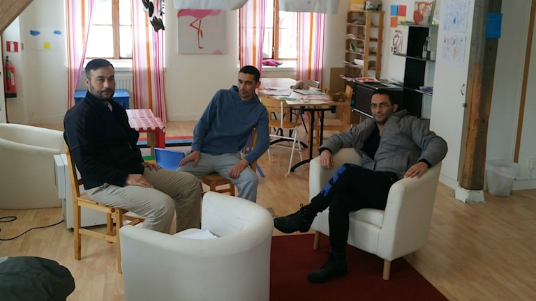 Tre av de asylsökande på Ängsbacka