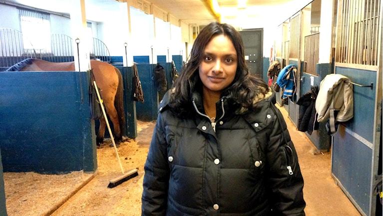 Helena Lind i stallet