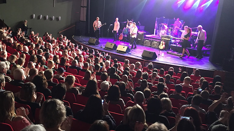 The Pinks på återföreningen i Degerfors Folkets hus. Foto: Nic Strömgren/Sveriges Radio.