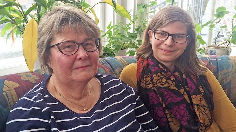 Catharina Widén och Malin Hjalmarsson. Foto: Jenny Tibblin/Sveriges Radio.