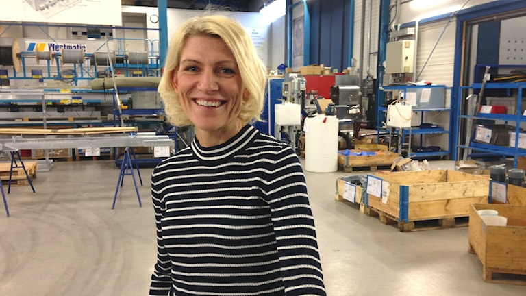 Linda Take i industrihallen