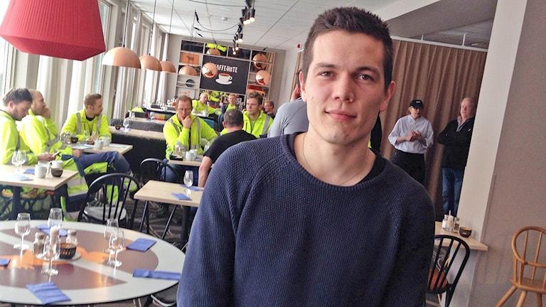 Simon Johannesson. Foto: Anton Eriksson/Sveriges Radio.