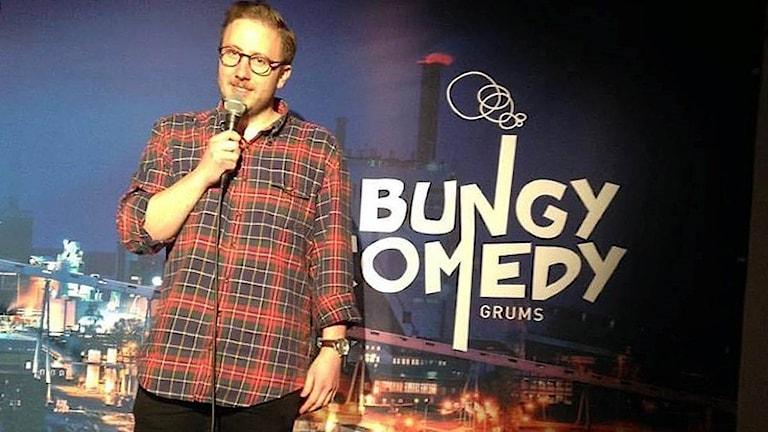 Anton Eriksson till final i Bungy Comedy. Foto: Pressbild.
