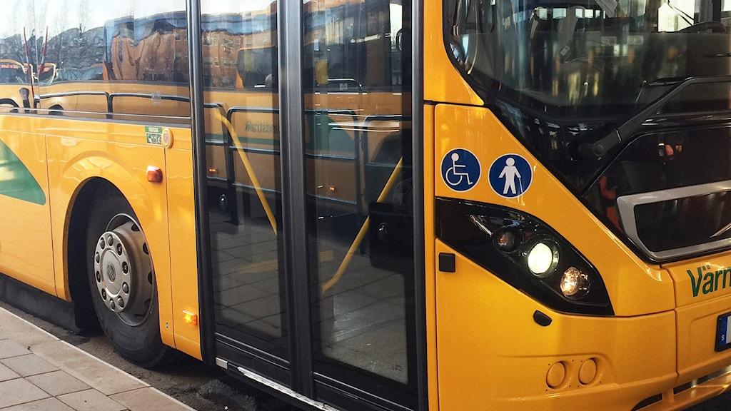 En buss från Värmlandstrafik. Foto: Malin Björk/Sveriges Radio.