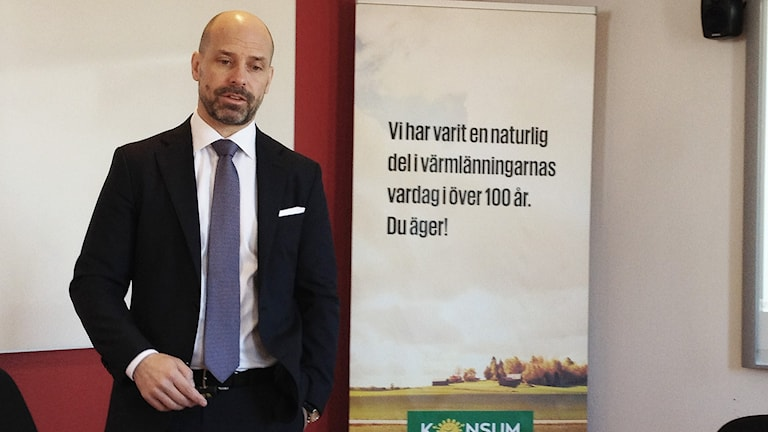 Tomas Sjölander, Konsum Värmlands vd. Foto: Roy Malmborg/Sveriges Radio.