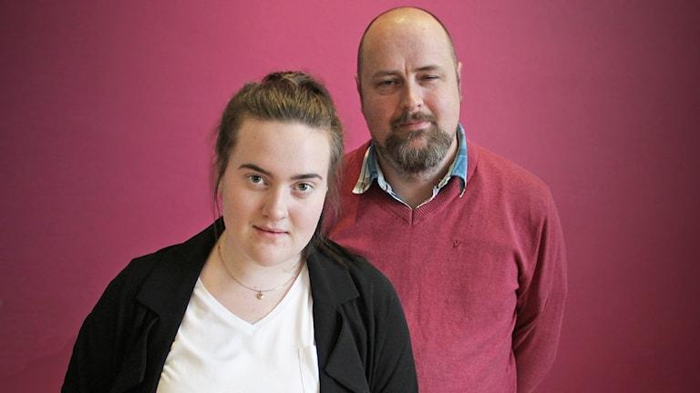 Lisa Thorängen och Erik Axelsson. Foto: Lars-Gunnar Olsson/Sveriges Radio.