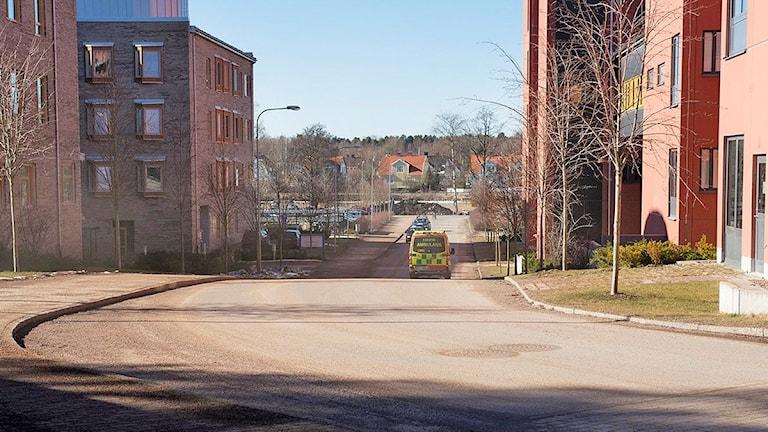 Vägen från akutmottagningen vid CSK ner mot Älvgatan. Foto: Landstinget i Värmland.