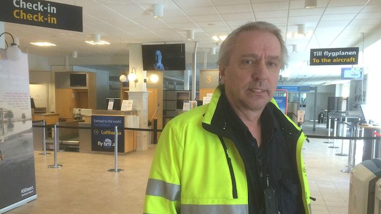 Peo Nilsson, Visions ordförande på Karlstads flygplats.