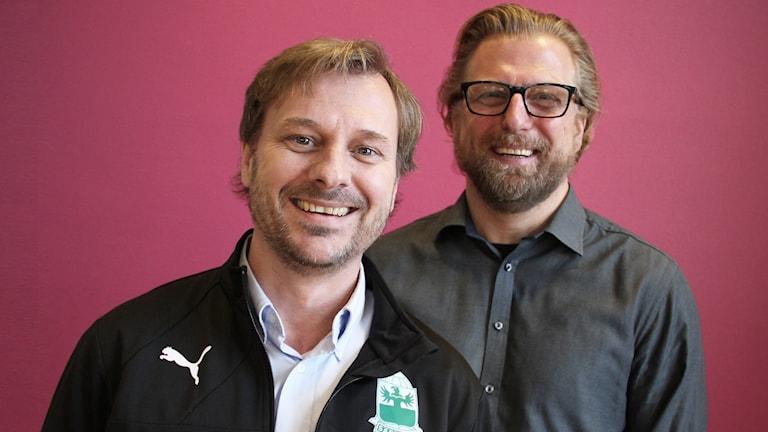 Niclas Johansson och Jörgen Nordmarker. Foto: Lars-Gunnar Olsson/Sveriges Radio.