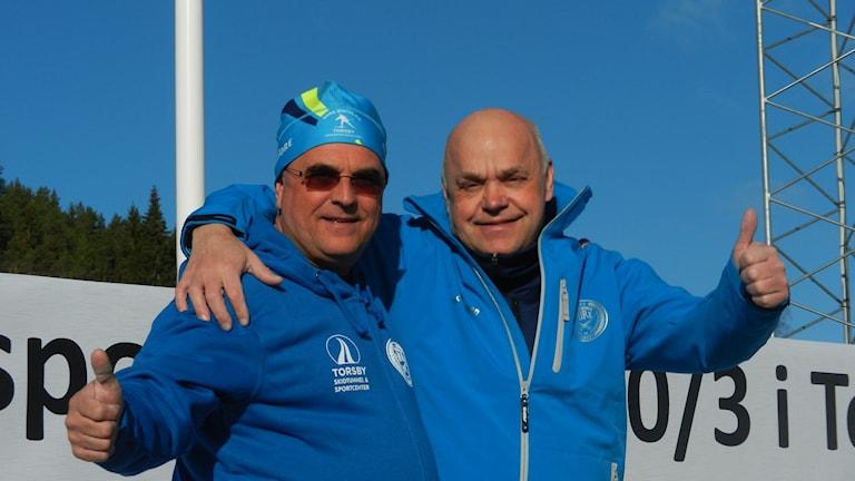 Jan Björn och Hans Carlsson. Foto: Sven Westerdahl/Sveriges Radio.