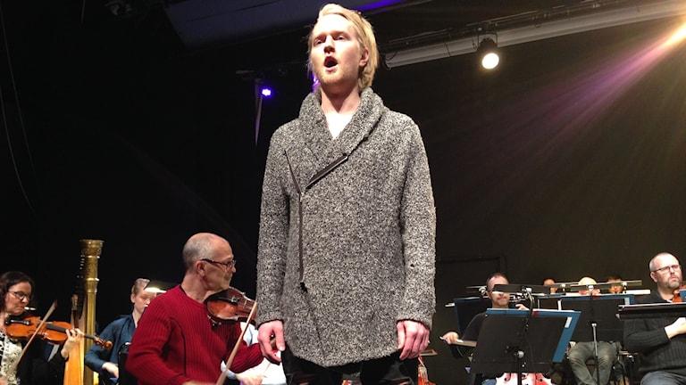 Wiktor Sundqvist, är en av de unga talangerna i Wermland operas satsning.