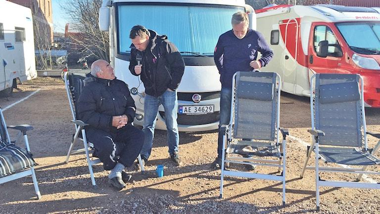 P4 Värmlands reporter på plats bland husbilsfantasterna i Kristinehamns gästhamn.