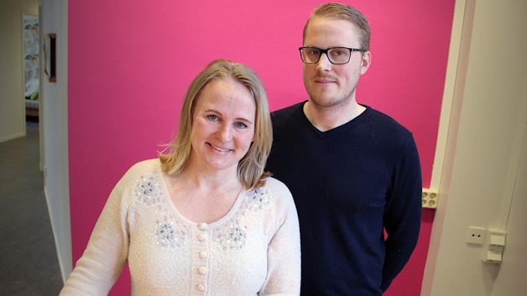 Caroline Åhs och Michael Lidström. Foto: Lars-Gunnar Olsson/Sveriges Radio.