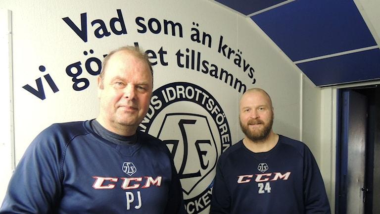 Leksandstränaren Perra Johnson och lagkaptenen Jonas Frögren