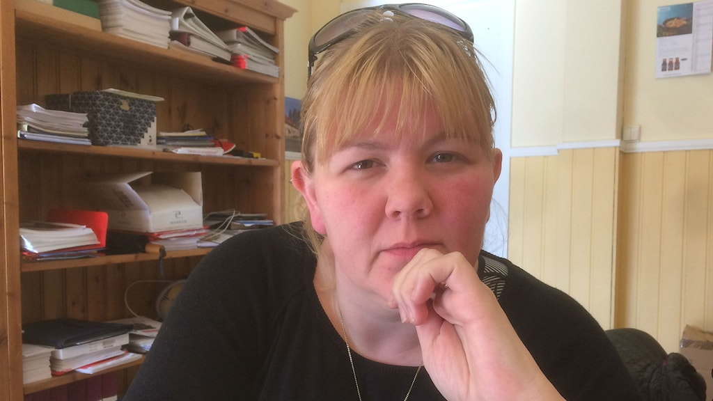 Undersköterskan Erika Svensson. Magnus Hermansson/Sveriges Radio