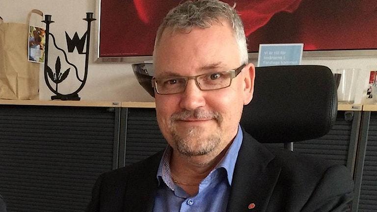 Benny Pedersén (S), kommunalråd i Forshaga. Foto: Jenny Tibblin/Sveriges Radio.