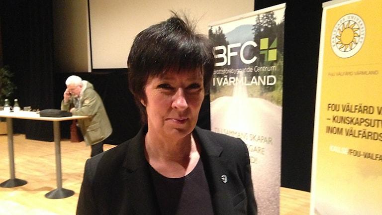 Mona Sahlin. Våldsbejakande extremism. Foto: Robert Ojala/Sveriges Radio