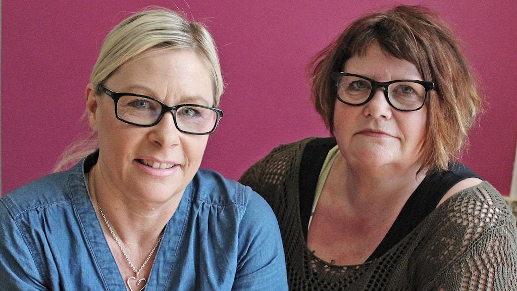 Barnmorskorna Lotta Jedvik och Helene Österdahl. Foto: Lars-Gunnar Olsson/Sveriges Radio.