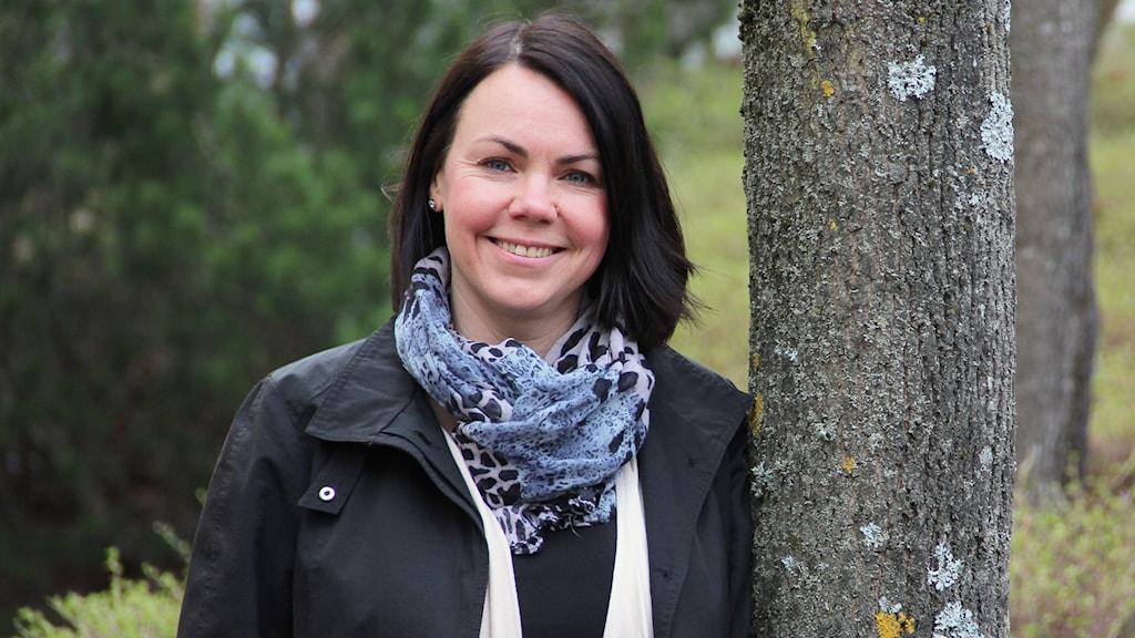 Laila Gibson, verksamhetssamordnare för Vänersamarbetet. Foto: Lars-Gunnar Olsson/Sveriges Radio.