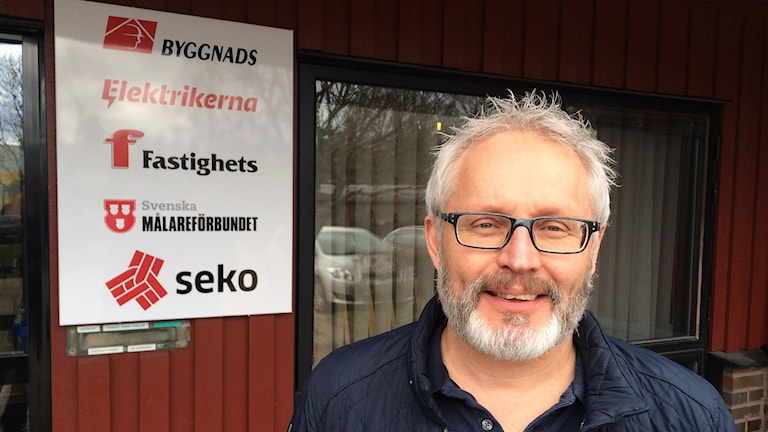 Tony Kyrk, ombudsman på Byggnads i Värmland. Foto: Per Larsson/Sveriges Radio.