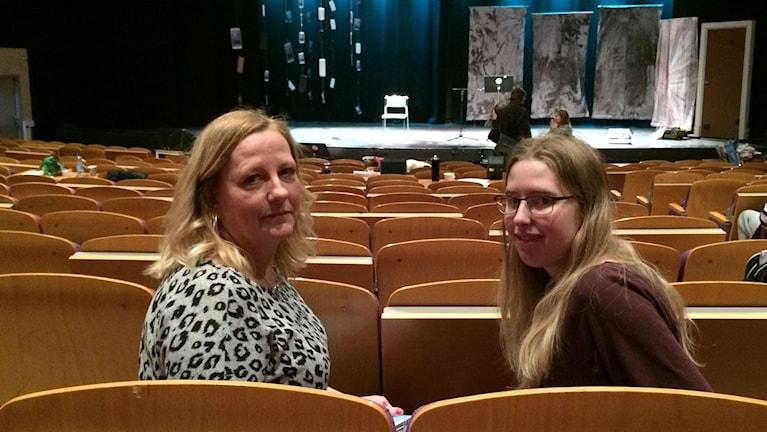 Anette Karlsson är lärare här tillsamman med en av sina elever Maria Broström
