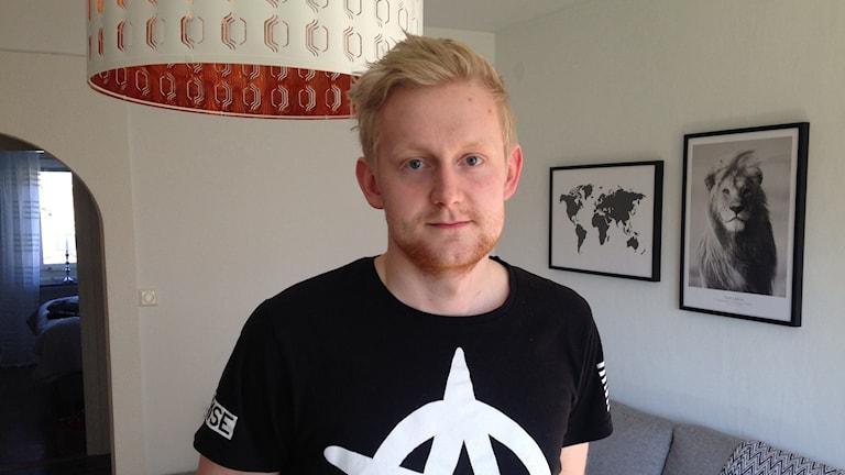 Viktor Ekberg, förskollärarestudent som just nu gör praktik i Karlskoga