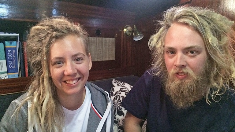 Emmie och Timoty Nilsek. Foto: Jenny Tibblin/Sveriges Radio.
