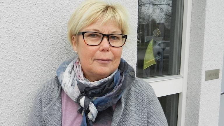 Berit Högman. Foto: Roy Malmborg/Sveriges Radio.