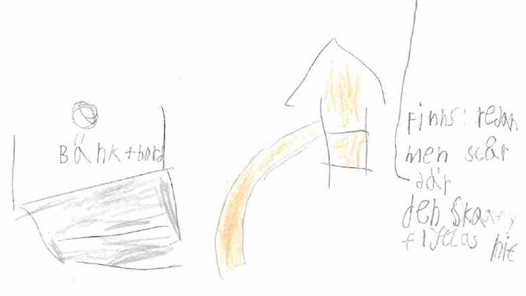 Lekplatsförslag från barn i Hagfors.