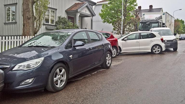 Krockade bilar. Foto: Daniel Svensson.