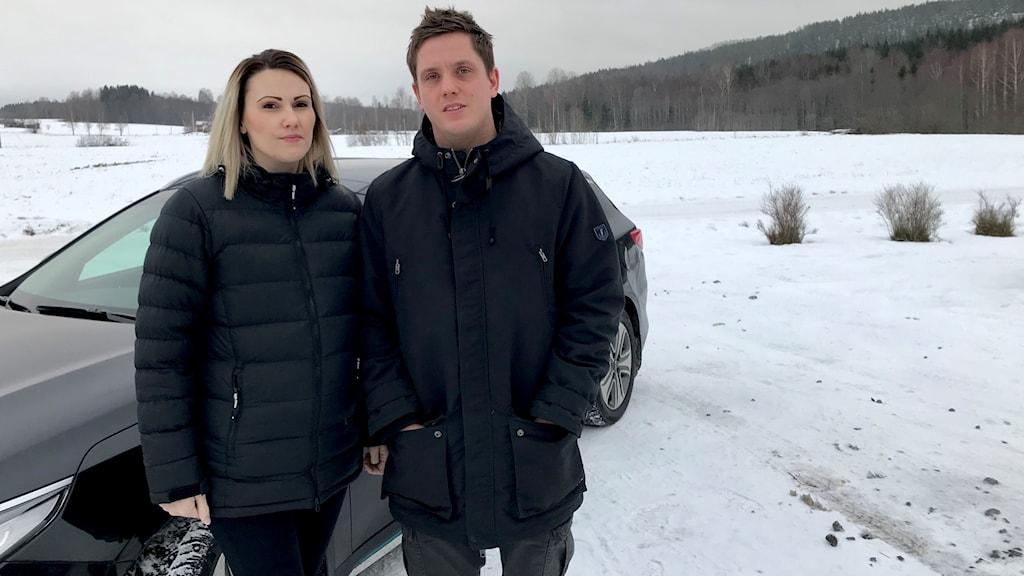 brand elbil hybridbil vägguttag sunne Michael och Johanna Olson elbrand