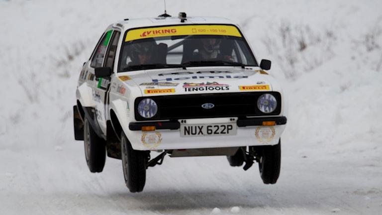 Petter Solberg i en Ford Escort. Foto: Micke Fransson/TT.