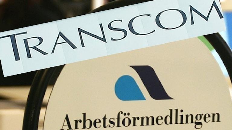 Transcom och Arbetsförmedlingen. Foto: Sveriges Radio.