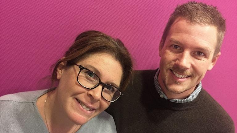 Carina Haak och David Mathiasson.. Foto: Bengt Höglind/Sveriges Radio.