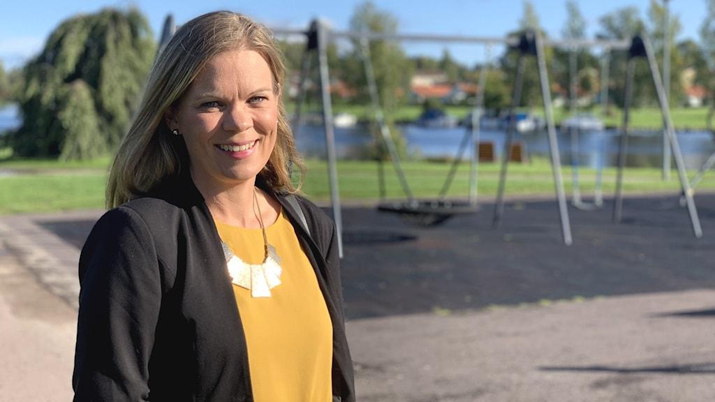 Kristina Lundberg, centerpartistiskt kommunalråd i Sunne.
